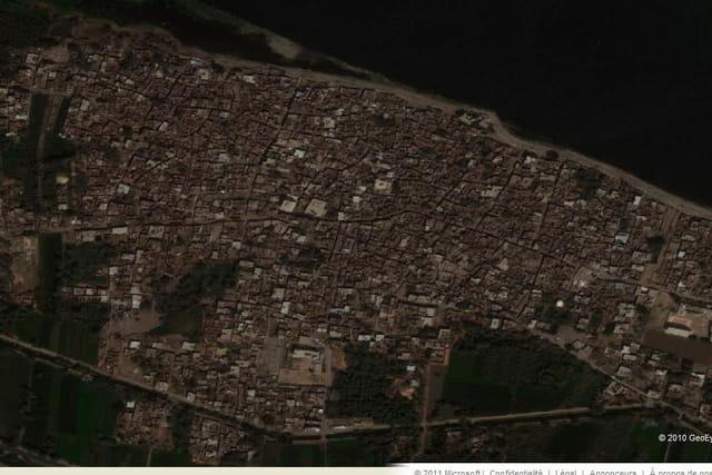 Le village de Dendérah