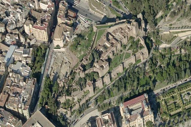La vue du château de Gibralfaro